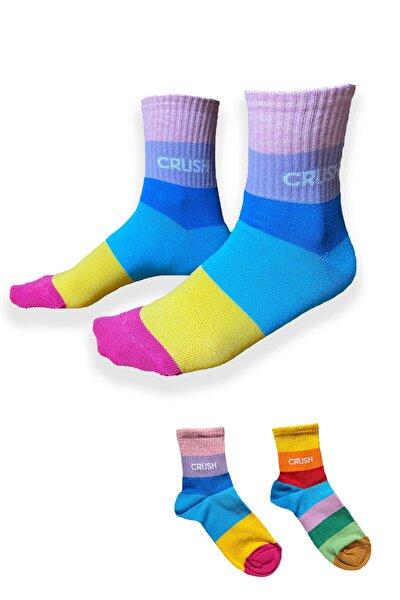 Renkli Kadın Çorabı 2'li Paket
