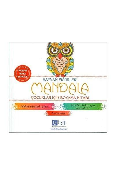 Hayvan Figürleri Mandala Çocuklar Için Boyama Kitabı