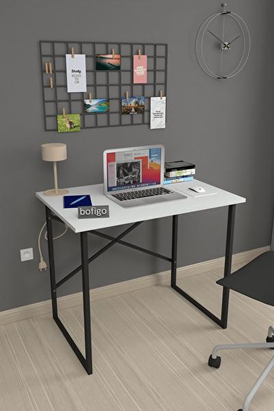 60x90 cm Çalışma Masası Laptop Bilgisayar Masası Ofis Ders Yemek Cocuk Masası Beyaz