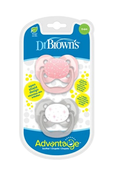 Dr.brown's Pembe Advantage™ Emzik - 0-6m Ikili Paket Bpa Free