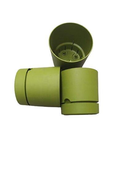Tahtakale Avm 21 Cm 5 L Yeşil Begonya Saksı 3 Adet