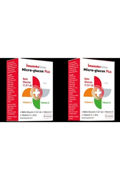 Micro Glukan Plus Beta Glucan 30 Kapsül 2 Kutu