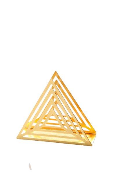 Altın Kaplama Lüx Metal Peçetelik Gold Renk