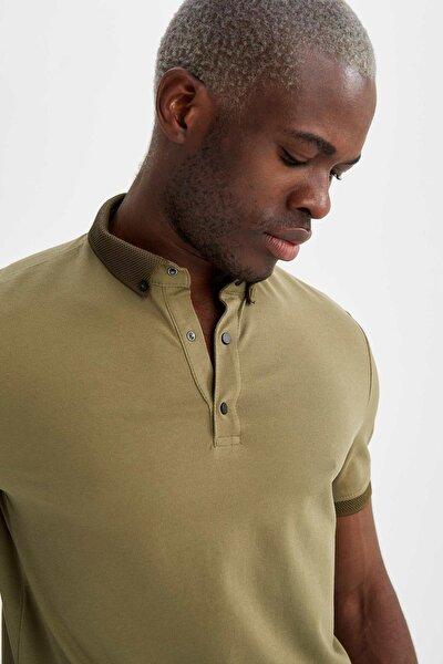 Slim Fit Polo Yaka Basic Kısa Kollu Tişört