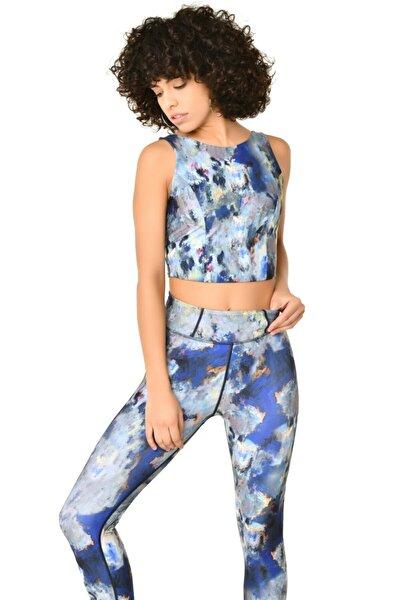 Renkli Kadın Batik Crop Body Hs-8799