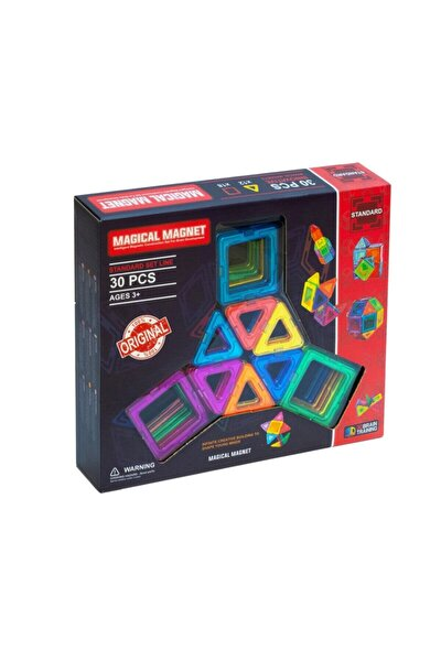 , Mıknatıslı, Manyetik 3 Boyutlu , Yapı Ve Tasarım Lego Eğitim Seti, 30 Parça