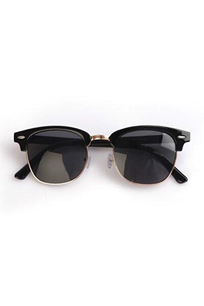 Unisex Siyah Yuvarlak Güneş Gözlüğü