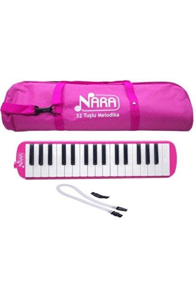 Nara 32 Tuş Çantalı Melodika Pembe