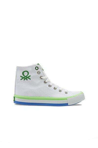 Kadın  Beyaz-yeşil Spor Ayakkabı 30189