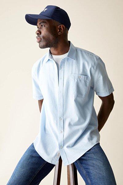 Regular Fit Basic Kısa Kollu Gömlek