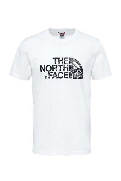 M S/S WOODCUT DOME TEE Beyaz Erkek T-Shirt 100407694