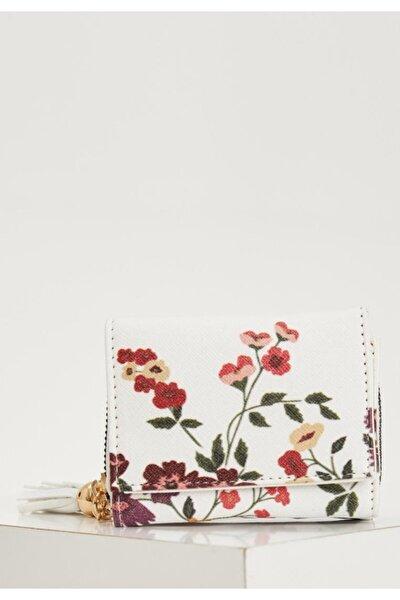 Çiçek Desenli Cüzdan