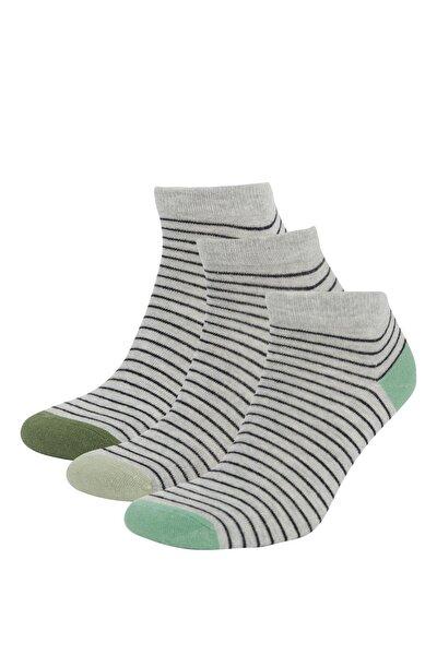 Çizgili Patik Çorap 3'lü