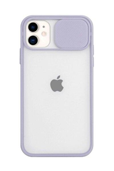 Iphone 11 Uyumlu Kılıf Slayt Sürgülü Kamera Korumalı Renkli Silikon