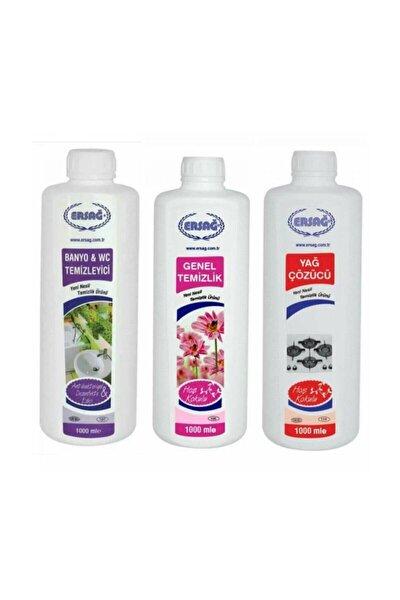 Genel Temizlik + Antibakteriyel Banyo Wc+yağ Çöz 3'lü Set X 1000 ml