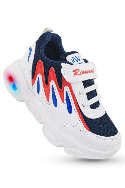Erkek Çocuk Beyaz  Işıklı Spor Ayakkabı
