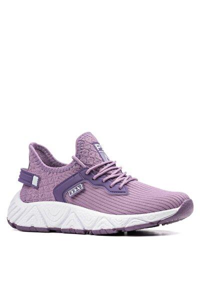 Kadın Lila Beyaz Sneaker Spor Ayakkabı