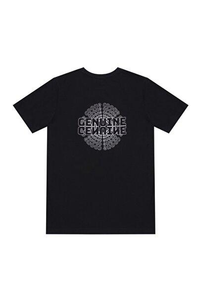 Unisex Siyah Genuine Çember T-shirt