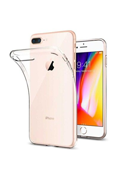 Apple Iphone 8 Plus Kılıf Ultra Ince Şeffaf Silikon