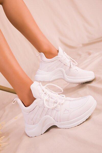 Beyaz Kadın Sneaker 15791