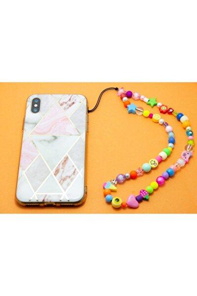 Renkli Boncuklu, Tüm Telefon Kılıflarına Uygun Telefon Askısı