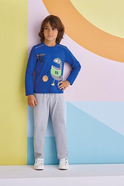 Erkek Çocuk Lacivert Pijama Takımı 1-8 Yaş 1301