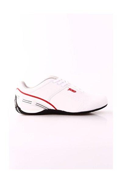 Unisex Beyaz Kırmızı Yürüyüş Ayakkabısı