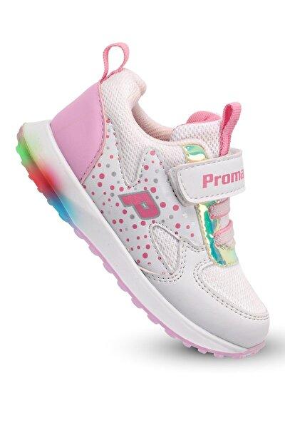 Işıklı Kız Çocuk Bebek Spor Ayakkabı Ortopedik .