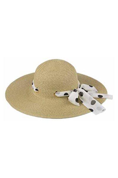 Kadın Bej Suyutti Fötr Hasır Şapka  2730-54