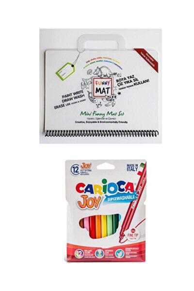 Toospik Akademi Çocuk Funny Mat Mini Set&carioca Joy 12'li Keçeli Kalem Seti