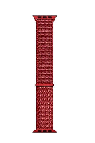 Apple Watch Dokuma Kordon Kayış 7 - 6 - Se - 5 - 4 - 3 - 2 - 1 38mm 40mm - Kırmızı