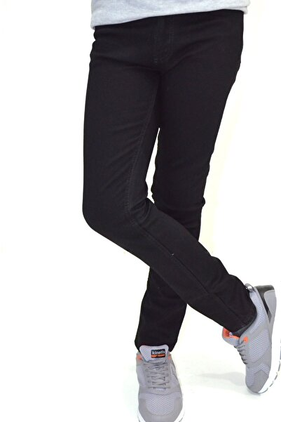 Erkek Çocuk Düz Paça Siyah Kot Pantolon ( 1 - 16 Yaş Arası )