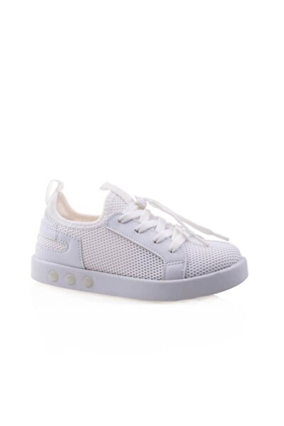 Unisex Işıklı Smart Taban Beyaz Spor Ayakkabı
