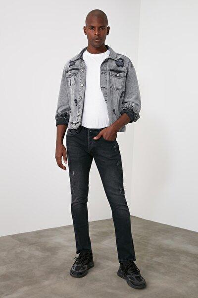 Antrasit Erkek Destroylu Skinny Jeans TMNAW20JE0404