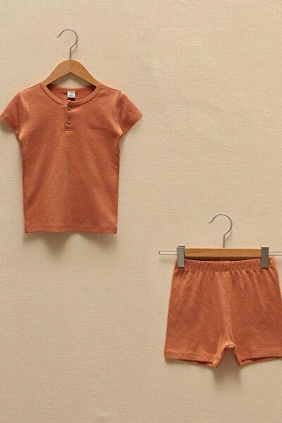 Erkek Bebek Mat Turuncu Gjb Pijama Takımı