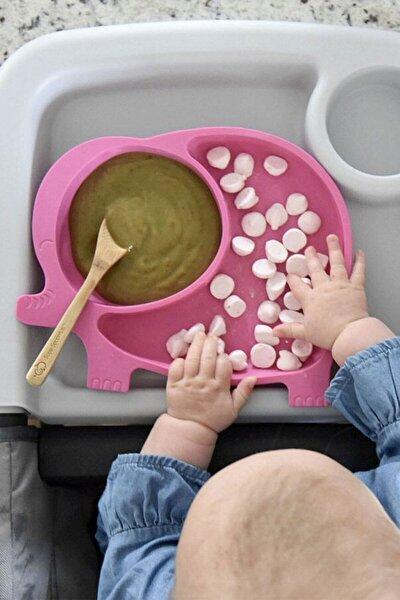 Fil Model Mama Tabağı Seti Çocuk Yemek Bebek Mama Tabldot Bölmeli Tabak