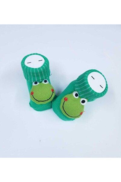 Sevimli Kurbağa Aksesuarlı Bebek Çorap