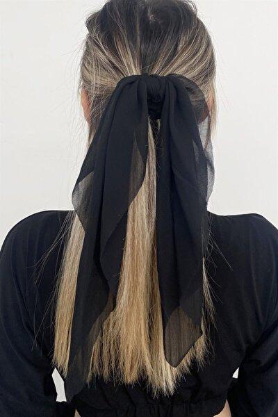 Siyah Renk Fularlı Simit Toka