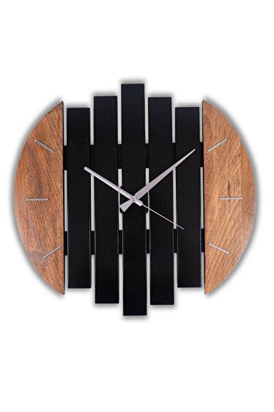 Dekoratif Ahşap Duvar Saati | Kayın Ağacı | 45 Cm Çap