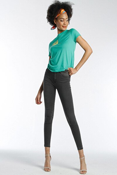 Kadın Slim Fit Çok Yüksek Bel Pantolon Eva 9028-37 37