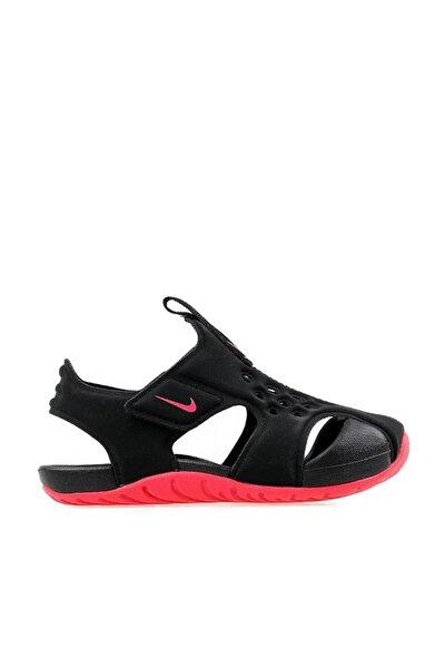 Siyah Sunray Protect Bebek Sandalet
