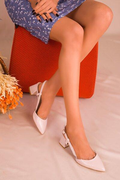 Bej Rugan Kadın Klasik Topuklu Ayakkabı 14656