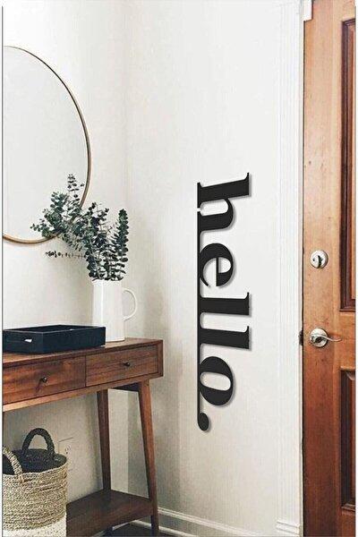 Hello Ahşap Duvar Yazısı Tablo