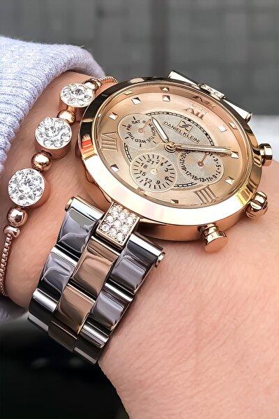 Kadın Rose Gold  Çelik Kol Saati