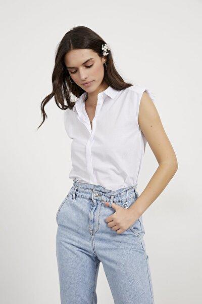 Kadın Vatkalı Kolsuz Gömlek