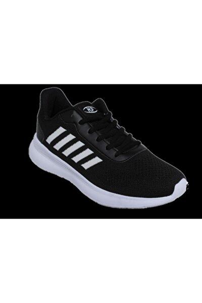 Unisex  Siyah Sneaker Örgü Yazlık Spor Yürüyüş Ayakkabısı