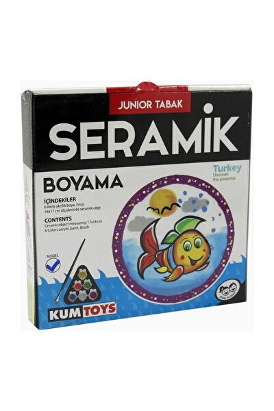 Seramik Boyama 18*18 Junior Tabak / Kedi