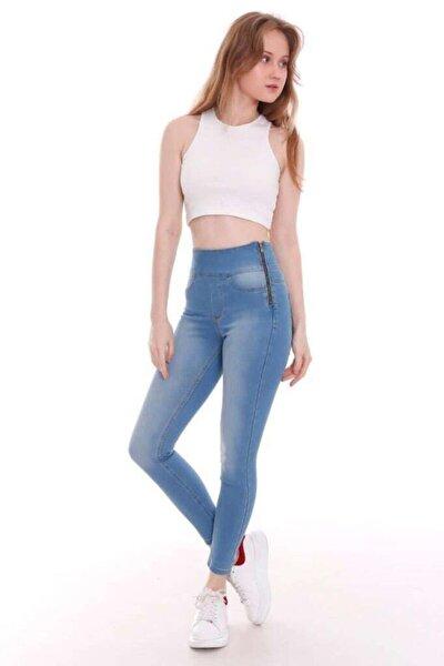Kadın Mavi Yüksel Bel Skinny Jean