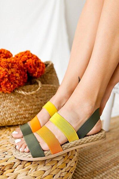 Kadın Haki Sandalet