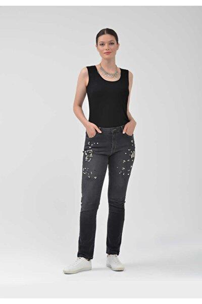 - Pantolon0012 Inci Detaylı Kot Pantolon